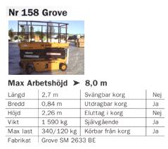 Grove 8,0m – Saxlift